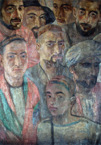 Tadzhics. 1935-1939. Oil, canvas. 79х54