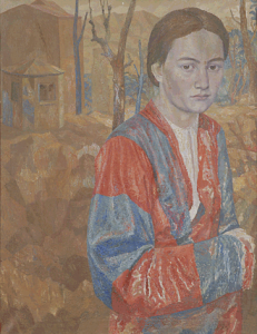 Portrait of Lidia Glebova. 1939. Oil,canvas, 68х53.