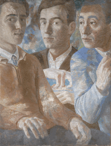 Triple portrait. 1932. Oil, canvas, 57х43.