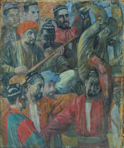 Tadzhic orchestra. 1934-1935. Oil, canvas. 140х117. SRM.