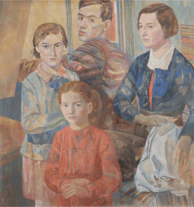 Self-portrait with daughter. 1948. Oil, canvas. 68x53.