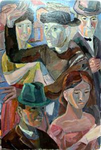 1950-е. Картон, м. 52,5х34