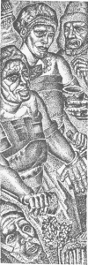 Kalevala. Miniature to rune 27. P. 166. 1931-1932.