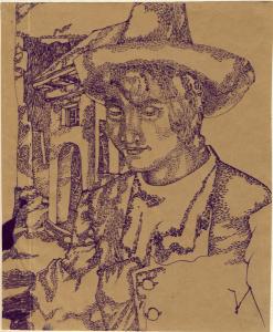 Swift. 1942. P., ink. 20x17.