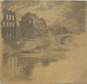Фонтанка. 1928. Б., кар. 24х26.