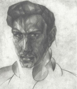 Selfportrait. 1929. P., pencil.