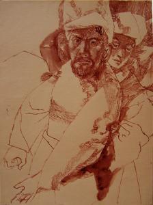 Master (Biblical motive). 1956. P., ink. 30x22.