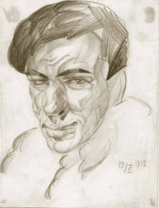 Self-portrait. 19.06.1929. P., pencil.