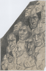 French revolution. 1929. Paper, pencil. 22х14.