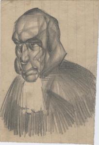 Montagnard. 1929. Paper, pencil. 15х10.