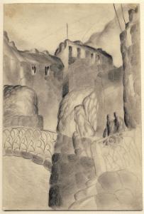 Moika. 1929. P., pencil. 27х18.