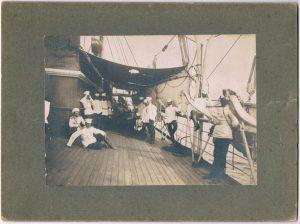 Экспедиция на Крит (росписи Я.Я. Зальцмана и др. офицеров - на обороте). 1896-1897.