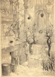 Barrels. 29.11.1930. P., pencil. 30х21,5.