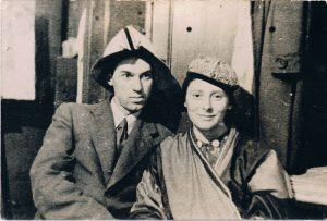 Роза и Павел Зальцман. Ленинград. 1940.