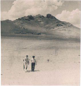 На съёмках фильма «Дочь степей». Или. 1954. Павел Зальцман - слева.