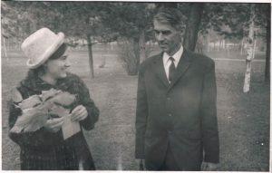 С дочерью Лоттой. Алма-Ата. 1973.