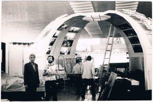 """На киностудии """"Казахфильм"""". 1979. Павел Зальцман - слева."""