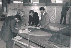 """На киностудии """"Казахфильм"""". 1979. Павел Зальцман - второй слева."""