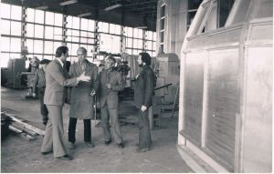 """На киностудии """"Казахфильм"""". 1977. Павел Зальцман - второй слева."""