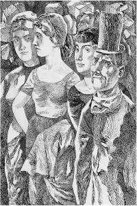 Dickens. 1962. P., ink, pen. 54x36.
