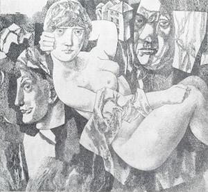 Rembrandt II. 1965. P., ink, pen.