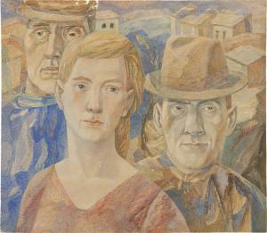 Three. 1966. P., watercolor. 43x49.