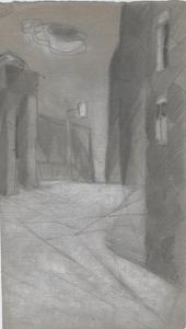 Pass. 1930(?). Paper, pencil. 24х14.