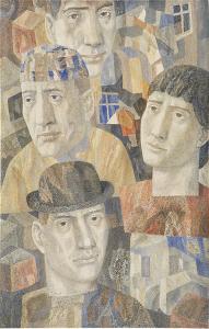 The Petrograd underground. 1967-1968. P., watercolor. 63x40.