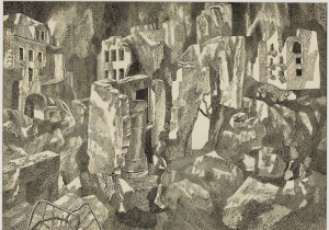 Where They Passed, the Cities Burn. 1968. P., ink, pen. 43,6x61,4. The State Tretyakov Gallery.