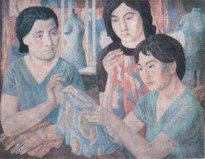 Dressmakers. 1975-1976. P., watercolor. 65x86.