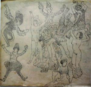 Carnival. 1932. Paper, pencil. 27х28.