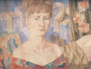 Portrait of I. Kazakova. 1977. P., watercolor.