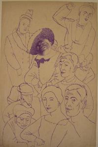 Contours. 1934. P., ink. 34х22.