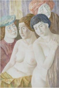 Salon group. 1981. P., watercolor. 86.5x58.0.