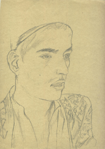 Khshikat. Elder borther Abdillo. 1934. P., pencil. 30x21.
