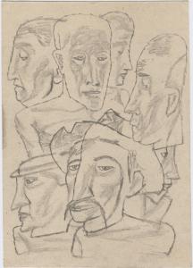 Seven. 1934. Paper, pencil. 22х15.