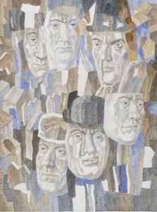 Masks. 1982. P., watercolor. 65x48.