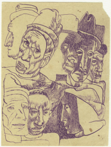 Composition. 1935. P., ink. 18х13.
