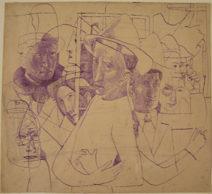 Masks. 1935. P., ink. 23х35.