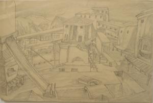 Фабрика. 1936. Б., кар. 22х32.