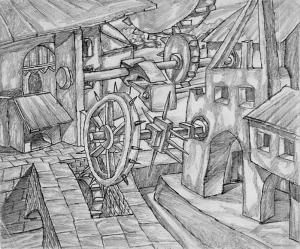 Experiments. 1937. P., pencil. 20х24.