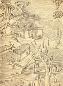 Experiments II. 1937. P., pencil. 32х22.