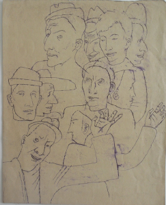 Outlines. 1937. P., ink. 33х26.