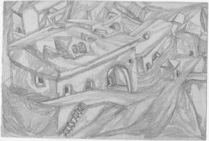 Петрозаводск, лабазы. 1937. Б, кар. 16x24.