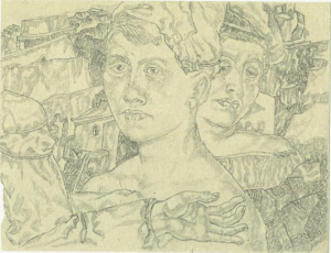 Two. End of 1930's. P., pencil. 10х13.