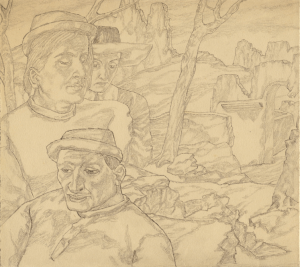 Difficult path-3. 1930's. P., pencil.