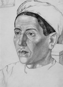 Khodzhikent. Portrait of Tuta 1939-1940. P., ink, pen, pencil. 30.5х22.