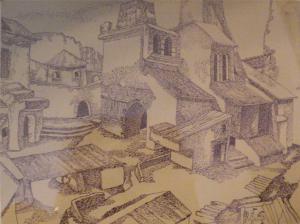 Castle. 1940. P., ink.
