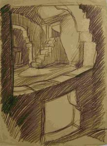 Подпол. Б., графитный кар. 30х21.