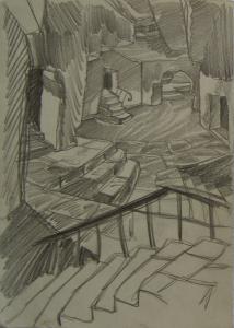 Cellars. P., graphite pencil. 30x20,8.